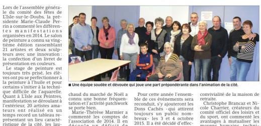 Comité des fêtes de L'Isle-sur-le-Doubs !